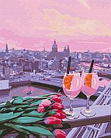 Картина за номерами малювання Brushme BS35681 Вид на рожевий захід