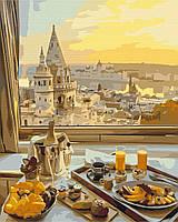Картина за номерами малювання Brushme BS29263 Сніданок з видом на старе місто