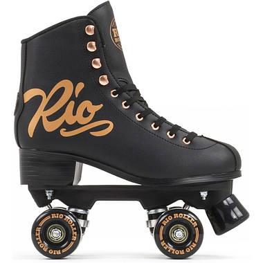 Взрослые роликовые коньки Rio Roller Rose 37 Черный, фото 2