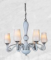 Люстра стеклянная в классическом стиле 20-Р8034-6 (белая)