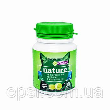 Поливитаминный комплекс Nature Vitomax с водорослями для котов таблетки 100 шт