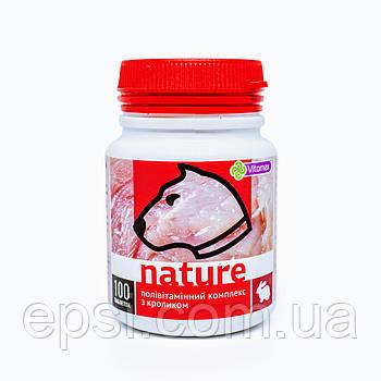 Поливитаминный комплекс Nature Vitomax с кроликом для собак таблетки 100 шт