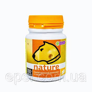Поливитаминный комплекс Nature Vitomax с сыром для собак таблетки 100 шт