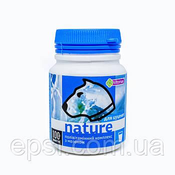Поливитаминный комплекс Nature Vitomax с молоком для щенков таблетки 100 шт