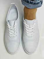 Trio Trend. Турецька взуття. Жіночі білі кеди-взуття з натуральної шкіри. Розмір 36 37 38 39 40, фото 7