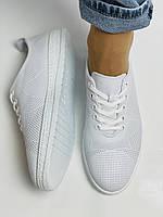 Trio Trend. Турецька взуття. Жіночі білі кеди-взуття з натуральної шкіри. Розмір 36 37 38 39 40, фото 9