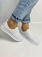 Trio Trend. Турецька взуття. Жіночі білі кеди-взуття з натуральної шкіри. Розмір 36 37 38 39 40, фото 5