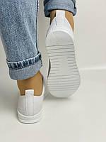Trio Trend. Турецька взуття. Жіночі білі кеди-взуття з натуральної шкіри. Розмір 36 37 38 39 40, фото 6