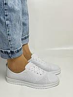 Trio Trend. Турецька взуття. Жіночі білі кеди-взуття з натуральної шкіри. Розмір 36 37 38 39 40, фото 4