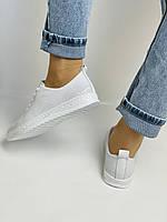 Trio Trend. Турецька взуття. Жіночі білі кеди-взуття з натуральної шкіри. Розмір 36 37 38 39 40, фото 3