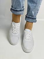 Trio Trend. Турецька взуття. Жіночі білі кеди-взуття з натуральної шкіри. Розмір 36 37 38 39 40, фото 8