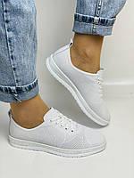 Trio Trend. Турецька взуття. Жіночі білі кеди-взуття з натуральної шкіри. Розмір 36 37 38 39 40, фото 2