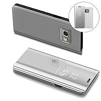 Чехол Mirror для Samsung Galaxy A7 2017 A720 книжка зеркальный Clear View Silver