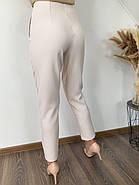 Повседневный женские брюки с высокой посадкой, прямого кроя, фото 2