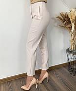 Повседневный женские брюки с высокой посадкой, прямого кроя, фото 3