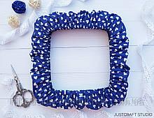 """Чохол для снапов (Q-snap) 20х20 см (8"""") Серця на синьому тлі"""