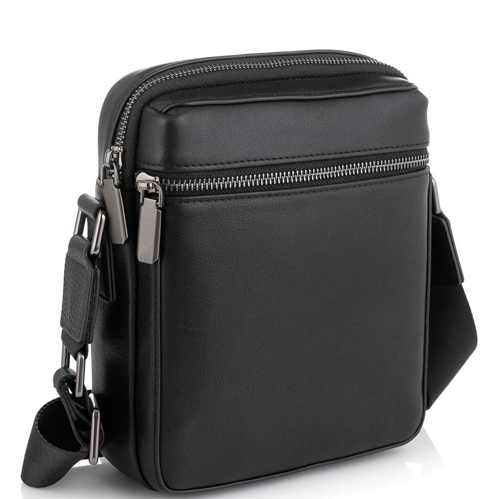 Чоловіча сумка через плече чорна Tiding Bag SM8-2156A