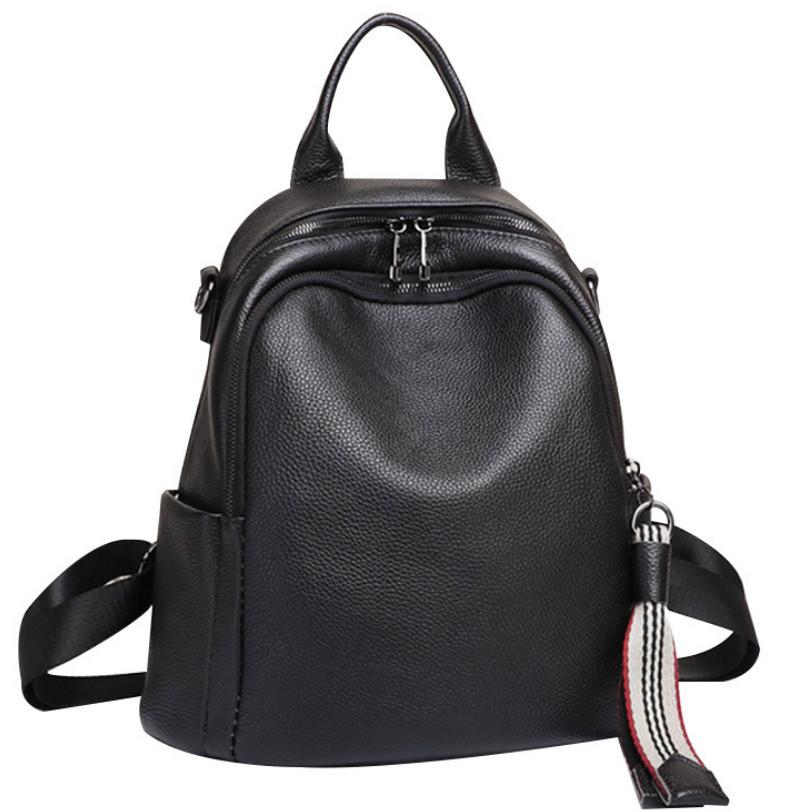Чорний шкіряний рюкзак міського формату Olivia Leather NWBP27-8085A-BP