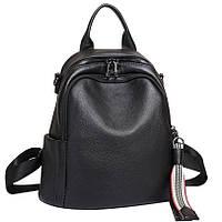 Чорний шкіряний рюкзак міського формату Olivia Leather NWBP27-8085A-BP, фото 1