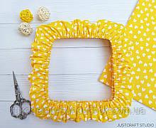 """Чохол для снапов (Q-snap) 20х20 см (8"""") Серця на жовтому фоні"""