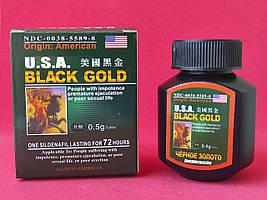 Сильні таблетки для чоловічої потенції Американське чорне золото USA Black Gold 16 таб. Оригінал