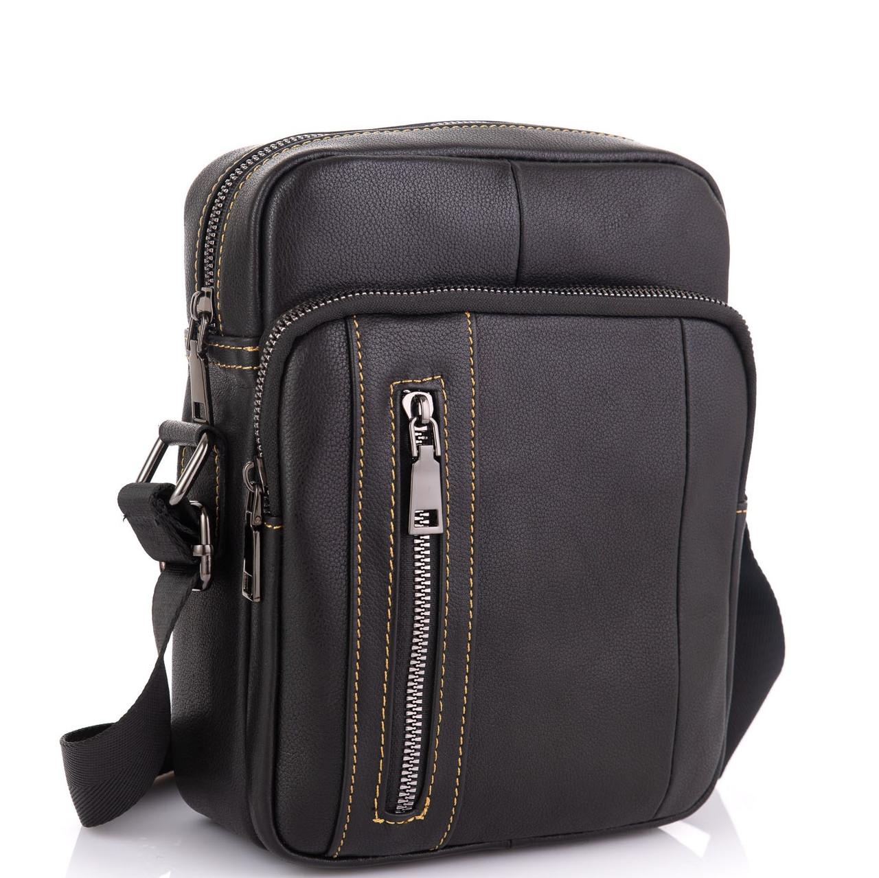 Чоловіча сумка через плече з натуральної шкіри Tiding Bag N2-9801A