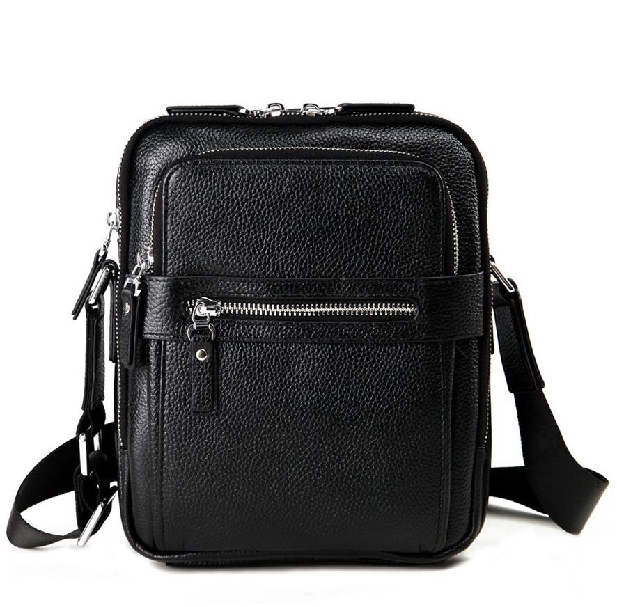 Сумка мужская через плечо из натуральной кожи Tiding Bag M5610A