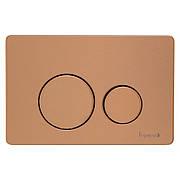 IMPRESE i7111, клавиша смыва, розовое золото глянец, нержавеющая сталь