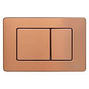 IMPRESE i7112, клавиша смыва, розовое золото глянец, нержавеющая сталь