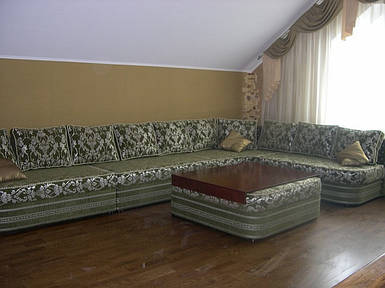 Кутовий диван Лексус з пуфом-столиком (величезний і розкішний) Toys