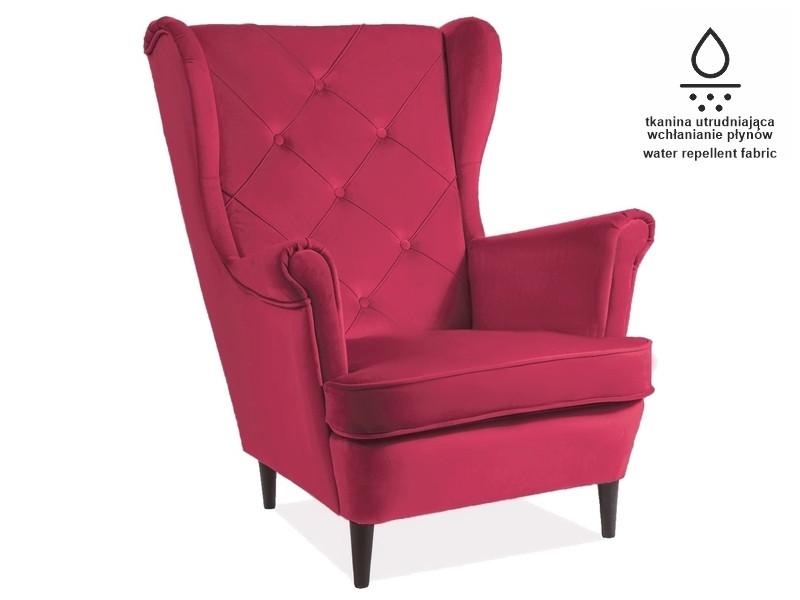 Крісло LADY MATT VELVET рожевий BL59 (Signal)