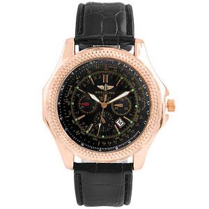 Годинник наручний Годинник Black чорний ремінець (репліка)