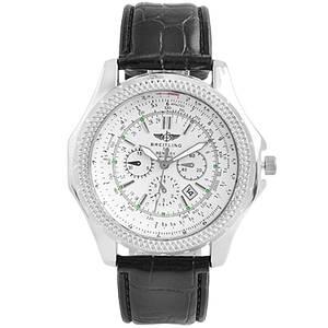 Годинник наручний Годинник White ремінець чорний (репліка)
