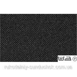 Ткань равномерного переплетения Lugana 25 3835/720 (черный) Black Zweigart (Германия) ширина 140 см