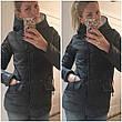 Женская куртка из комбинированной ткани, фото 2