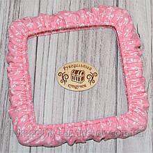 """Чохол для снапов (Q-snap) 20х20 см (8"""") Бантики на рожевому тлі"""