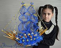 """Корабль из конфет """"Морские глубины"""""""