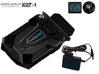 Внешний вентилятор (кулер) для ноутбука CoolCold K27-1, черный, 220V