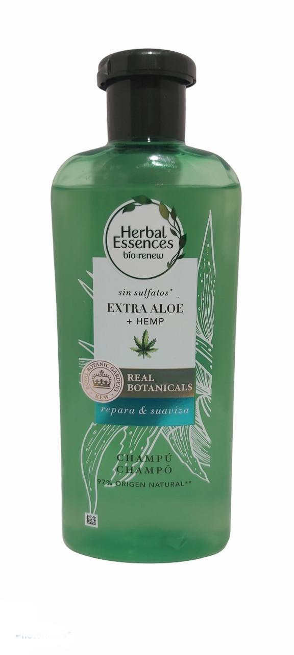 """Шампунь для волос Herbal Essences """"Алое вера и конопля""""  БЕЗСУЛЬФАТНЫЙ,380мл."""
