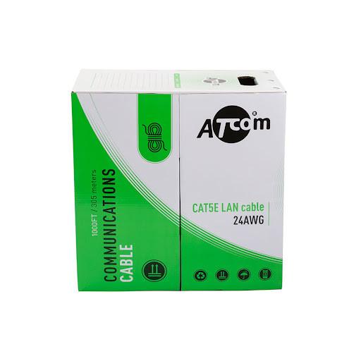 Вита пара UTP кат5e Atcom (2x2x0.5 сечение - 0.5mm) Al-Cu (CCA) для внутренней прокладки, цена за бухту (бухта