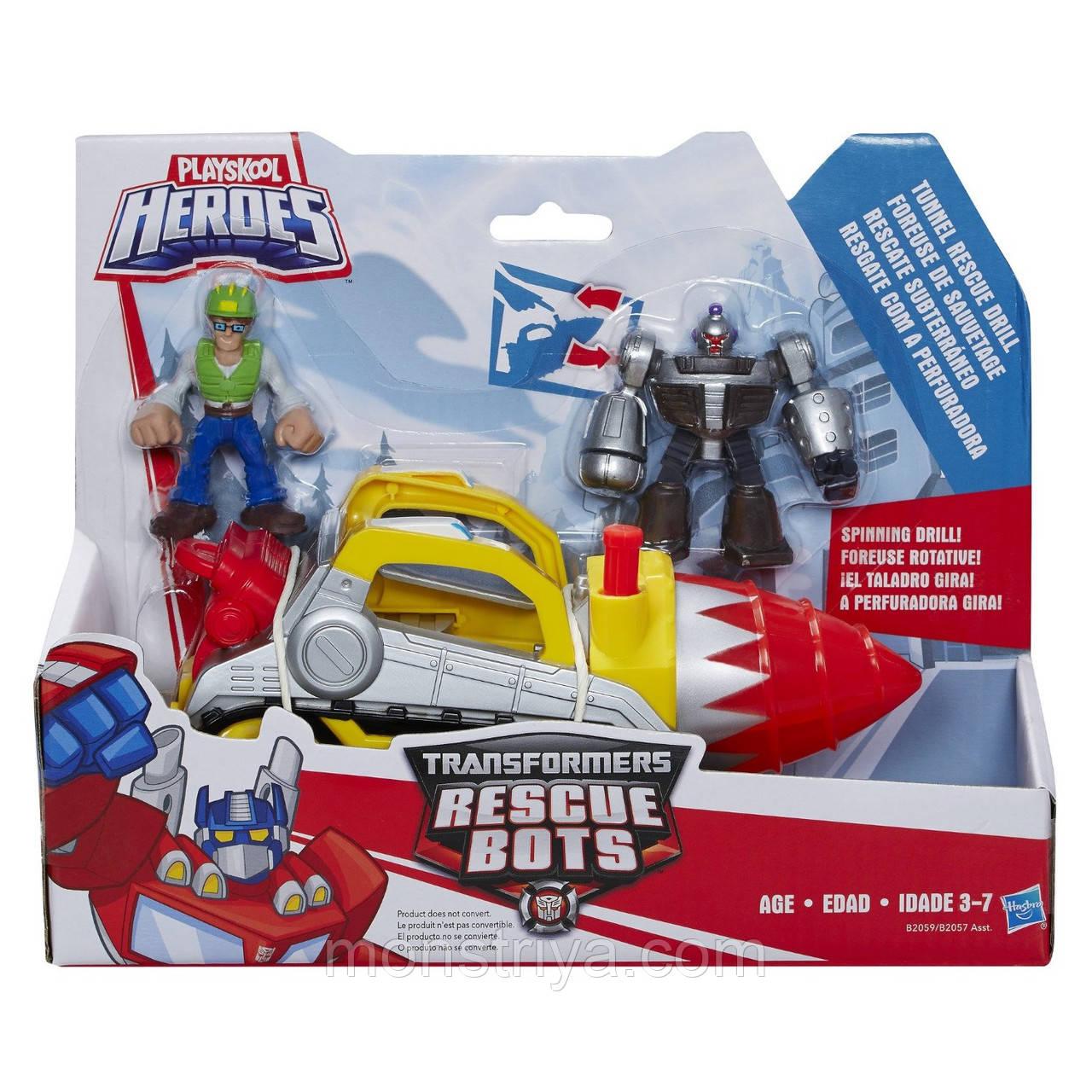 Игровой набор Подземный бур Боты-спасатели. Playskool Heroes Transformers Rescue Bots Tunnel Rescue Drill Set