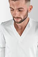 Кофта медицинская, рабочая, универсальная Toffy Мужская Белая, фото 2