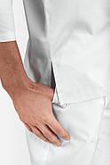 Кофта медицинская, рабочая, универсальная Toffy Мужская Белая, фото 3