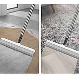 Швабра-губка с вертикальным отжимом самоочисткой и ведром Швабра лентяйка телескопическая для мытья пола белая, фото 9