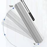 Швабра-губка с вертикальным отжимом самоочисткой и ведром Швабра лентяйка телескопическая для мытья пола белая, фото 4