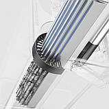Швабра-губка с вертикальным отжимом самоочисткой и ведром Швабра лентяйка телескопическая для мытья пола белая, фото 5