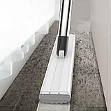 Швабра-губка с вертикальным отжимом самоочисткой и ведром Швабра лентяйка телескопическая для мытья пола белая, фото 8