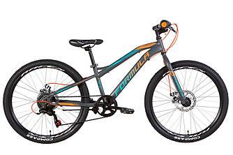 """Велосипед  FORMULA FOREST DD 2021 (антрацитово-оранжевый с бирюзовым 12,5"""")"""