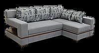 Угловой серый диван Цезарь с оттоманкой фабрики Бис-М, фото 1