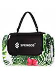 Килимок плед для пікніка відпочинку та кемпінгу сумка складний непромокаючий Springos Зелений 200 x 200 см (PM019), фото 4